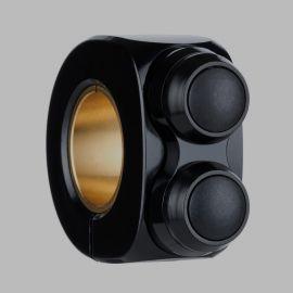 mo.switch basic 2 button, black, black inlay