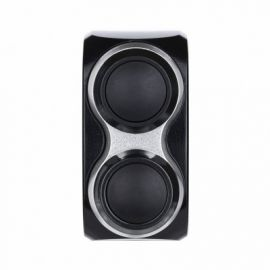 m.Switch Basic 2 button, black, silver inlay