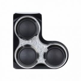 m.Switch Basic 3 button, LEFT, black, silver inlay